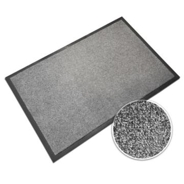 casa pura® Premium Fußmatte in attraktiver Optik | Schmutzfangmatte in 5 Größen | hellgrau | 90x150cm - 1
