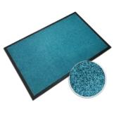 casa pura® Premium Fußmatte in attraktiver Optik | Schmutzfangmatte in 5 Größen | türkis | 60x90cm - 1