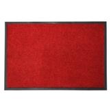 casa pura® Premium Fußmatte in attraktiver Optik | Schmutzfangmatte in 5 Größen | rot | 90x150cm - 1