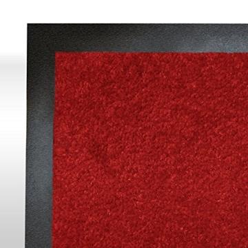 casa pura® Premium Fußmatte in attraktiver Optik | Schmutzfangmatte in 5 Größen | rot | 90x150cm - 2
