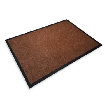 casa pura® Premium Fußmatte in attraktiver Optik | Schmutzfangmatte in 8 Größen | braun | 60x90cm - 2