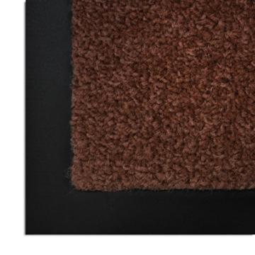 casa pura® Premium Fußmatte in attraktiver Optik | Schmutzfangmatte in 8 Größen | braun | 60x90cm - 3