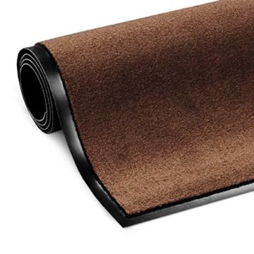 casa pura® Premium Fußmatte in attraktiver Optik | Schmutzfangmatte in 8 Größen | braun | 60x90cm - 4