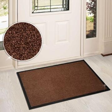 casa pura® Premium Fußmatte in attraktiver Optik | Schmutzfangmatte in 8 Größen | braun | 60x90cm - 5
