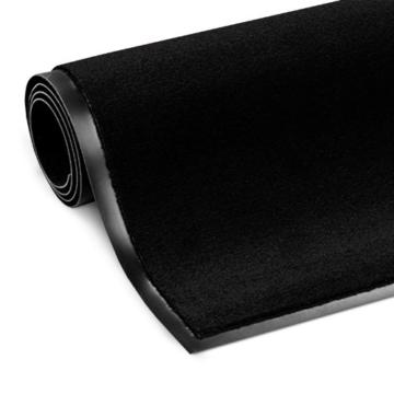 casa pura® Premium Fußmatte in attraktiver Optik   Schmutzfangmatte in 9 Größen   schwarz   60x180cm - 3