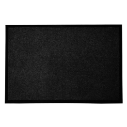 casa pura® Premium Fußmatte in attraktiver Optik | Schmutzfangmatte in 9 Größen | schwarz | 60x180cm - 1