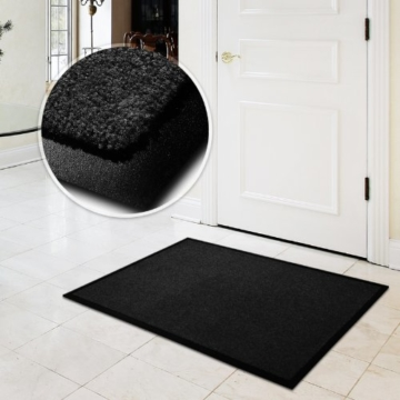 casa pura® Premium Fußmatte in attraktiver Optik | Schmutzfangmatte in 9 Größen | schwarz | 60x180cm - 4