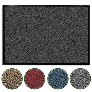 casa pura® Premium Fußmatte / Sauberlaufmatte für Eingangsbereiche | Fußabtreter mit Testnote 1,7 | Schmutzfangmatte in 8 Größen als Türvorleger innen und außen | anthrazit - grau | 60x90cm - 1