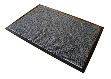 """Doortex Schmutzfangmatte   Fußmatte """"advantagemat""""   90 x 300 cm   aus Polypropylen   Vinyl   schwarz-weiß meliert   rechteckig   für den Innenbereich - 1"""