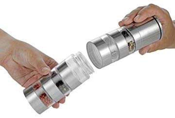 Esmeyer 290-246 Gewürzmühle SPICY mit 5 getrennten Ebenen,  Keramikmahlwerk und Kunststoff Dosen, Ø: 50 mm, Höhe: 250 mm, Volumen: 5x0,05 Liter, - 3