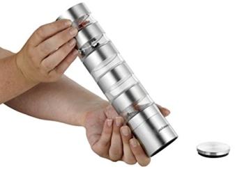 Esmeyer 290-246 Gewürzmühle SPICY mit 5 getrennten Ebenen,  Keramikmahlwerk und Kunststoff Dosen, Ø: 50 mm, Höhe: 250 mm, Volumen: 5x0,05 Liter, - 4