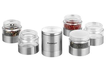 Esmeyer 290-246 Gewürzmühle SPICY mit 5 getrennten Ebenen,  Keramikmahlwerk und Kunststoff Dosen, Ø: 50 mm, Höhe: 250 mm, Volumen: 5x0,05 Liter, - 6