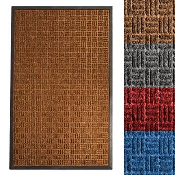 etm® Fußmatte Ocean | für außen und innen | geprägte Struktur für optimale Reinigungswirkung | Schmutzfangmatte in vielen Größen und Farben (Braun 90x150 cm) - 1