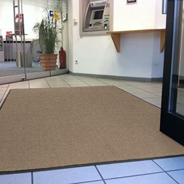etm® Schmutzfangmatte - Note 1,6: Sieger Preis-Leistung - Fußmatte in vielen Größen - Fußabstreifer für Haustür innen und außen (Ocker-Schwarz, 90x150 cm) - 3