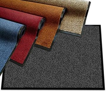 etm® Schmutzfangmatte - Note 1,6: Sieger Preis-Leistung - Fußmatte in vielen Größen - Fußabstreifer für Haustür innen und außen (Ocker-Schwarz, 90x150 cm) - 1
