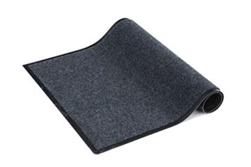 Fußmatte innen / außen dunkelgrau, waschbar, 120 x 180 cm, rutschfest, Türmatte, Schmutzfangmatte, Sauberlaufmatte, Eingangsbereich - 2