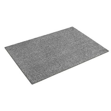 Fußmatte Karat für Eingangsbereiche | extra saugstarke Schmutzfangmatte aus Baumwolle | rutschfest | waschbar | zahlreiche Größen | viele Farben | 60x100 cm | Grau - 2