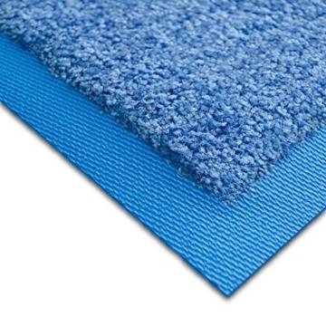 Fußmatte Sky Color | strahlende Farben | Schmutzfangmatte mit Gummirand in passender Farbe | sehr gute Schmutzfangwirkung | Brilliant Blue (50x85cm) - 2