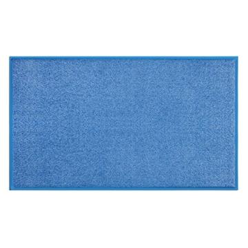Fußmatte Sky Color | strahlende Farben | Schmutzfangmatte mit Gummirand in passender Farbe | sehr gute Schmutzfangwirkung | Brilliant Blue (50x85cm) - 3