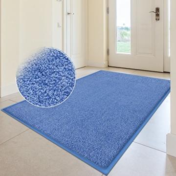 Fußmatte Sky Color | strahlende Farben | Schmutzfangmatte mit Gummirand in passender Farbe | sehr gute Schmutzfangwirkung | Brilliant Blue (50x85cm) - 5