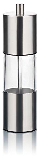 Gewürzmühlen Set 4er mit Keramikmahlwerk | Salz- und Pfeffermühlen aus hochwertigem Edelstahl und Acrylglas | manuell einstellbare Mahlstufen | perfekt für Meersalz, Pfeffer und andere Gewürze - 3