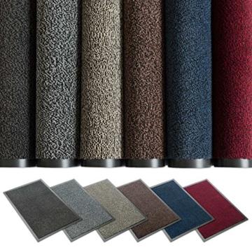 Kettelservice-Metzker® Schmutzfangmatte | Sauberlaufmatte | versch.Farben & Größen | incl.Fleckentferner | grau-schwarz meliert 60 x 90 cm - 3