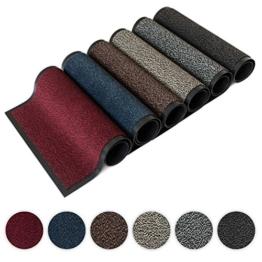 Kettelservice-Metzker® Schmutzfangmatte | Sauberlaufmatte | versch.Farben & Größen | incl.Fleckentferner | grau-schwarz meliert 60 x 90 cm - 1