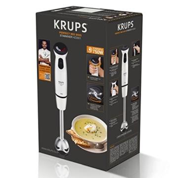 Krups HZ3001 Stabmixer Perfect Mix 9000 inkl. Mixbecher, 4-Messer-Technologie, 20 Geschwindigkeitsstufen, Turbostufe, 750 W, hochglanz weiß / grau / edelstahl gebürstet - 4