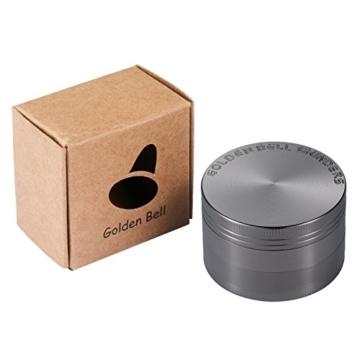LIHAO Pollen Grinder Crusher für Tabak,Spice,Kräuter,Gewürze,Herb,Kaffee 4-teiliges Set mit Pollen Scraper (Nickel-Schwarz) - 3