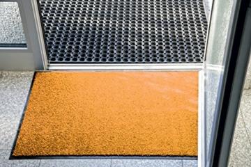 miltex 22020-5 Schmutzfangmatte Eazycare, 60 x 90 cm, waschbar, orange - 5