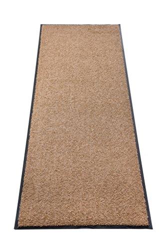 Premium Fußmatte Schmutzfangmatte SANSIBAR ✓ Extrem strapazierfähig ✓ Außen & Innen ✓ Waschbar ✓ PVC-frei – Sauberlaufmatte Haustür Schmutzmatte Türmatte Design Türvorleger – Eingangsmatte Schmutzfangteppich Schmutzfänger Außenbereich (Sansibar 60x120 cm, taupe) - 1