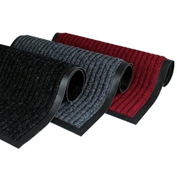 Rapid Teck® Türmatte Fußmatte Schwarz 90cm x 150cm Fußabtreter Schmutzmatte Schmutzfangmatte Türvorleger Matte - 2