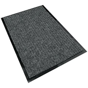 Rapid Teck® Türmatte Fußmatte Schwarz 90cm x 150cm Fußabtreter Schmutzmatte Schmutzfangmatte Türvorleger Matte - 4