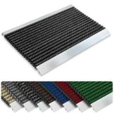 Repräsentative Fußmatte Profi Brush - Testurteil Sehr Gut - Schmutzfangmatte mit Alu Rahmen für außen und innen - verschiedene Bürsten Farben und Größen ( 50x80cm Schwarz ) - 1