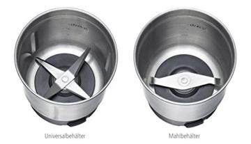 ROMMELSBACHER EGK 200 elektrische Gewürz & Kaffeemühle / 2 auswechselbare Edelstahlbehälter mit Schlagmesser & Spezialmesser / 200 W / Edelstahl - 2