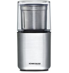 ROMMELSBACHER EGK 200 elektrische Gewürz & Kaffeemühle / 2 auswechselbare Edelstahlbehälter mit Schlagmesser & Spezialmesser / 200 W / Edelstahl - 1