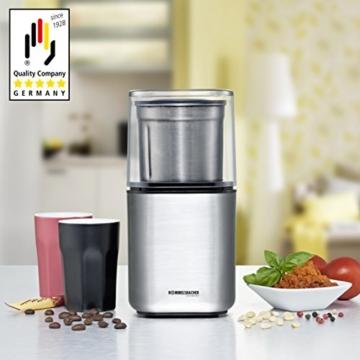 ROMMELSBACHER EGK 200 elektrische Gewürz & Kaffeemühle / 2 auswechselbare Edelstahlbehälter mit Schlagmesser & Spezialmesser / 200 W / Edelstahl - 5