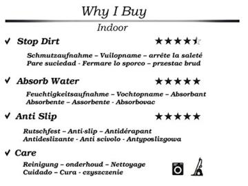Sauberlaufmatte mit Blumen in Taupe | 150 x 67 cm | Schmutzfangmatte | Türvorleger | Fußmatte | waschbar bis 30° | verschiedene Motiv zur Auswahl - 2