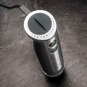 Savisto Premium 750 Watt Stabmixer mit 3-in-1 Zubehör Set - Onyx Schwarz - 6