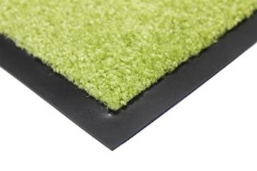 Schmutzfangmatte CLEAN - grün, 60x90cm, Waschbar, Rutschfest, Pflegeleichte Fußmatte | Fußabtreter, Fußabstreifer | Fußmatte, Schmutzmatte | Eingangsmatte, Türvorleger für Innen & Außen - 2