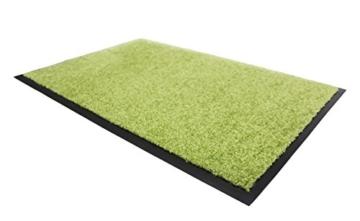 Schmutzfangmatte CLEAN - grün, 60x90cm, Waschbar, Rutschfest, Pflegeleichte Fußmatte | Fußabtreter, Fußabstreifer | Fußmatte, Schmutzmatte | Eingangsmatte, Türvorleger für Innen & Außen - 3