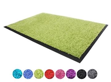 Schmutzfangmatte CLEAN - grün, 60x90cm, Waschbar, Rutschfest, Pflegeleichte Fußmatte | Fußabtreter, Fußabstreifer | Fußmatte, Schmutzmatte | Eingangsmatte, Türvorleger für Innen & Außen - 1