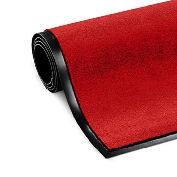 Schmutzfangmatte ColorLine | viele Größen und Farben zur Auswahl | Fußmatte für Innenbereich | Mono Color Rot 60x180 cm - 2