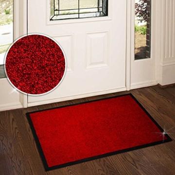 Schmutzfangmatte ColorLine | viele Größen und Farben zur Auswahl | Fußmatte für Innenbereich | Mono Color Rot 60x180 cm - 3
