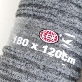 Schmutzfangmatte grau Größe wählbar Türmatte Fußmatte Läufer Fußabtreter , Größen:120cm x 180cm - 1