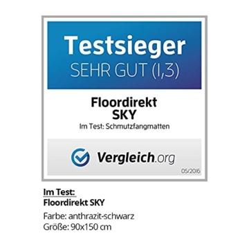 Schmutzfangmatte SKY - Testsieger - Fußmatte in 10 verschiedenen Größen - blau-schwarz - 2