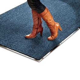 Schmutzfangmatte SKY - Testsieger - Fußmatte in 10 verschiedenen Größen - blau-schwarz - 1
