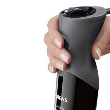Siemens MQ67110 FQ.1 Stabmixer / 750 Watt / Edelstahl-Mixfuß / flexibles Spiralkabel / ergonomische / schwarz - 4