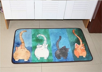 WOOD MEETS COLOR Fußmatte Schmutzfangmatte Badmatten Rutschfest waschbar(40 x 60 cm Vielfarbig ) - 8