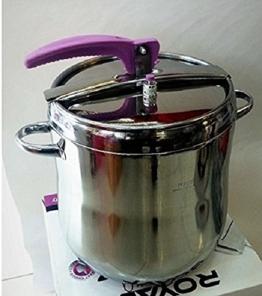 15 Liter Schnellkochtopf Kochtopf 15 L Schnellkochtopf mit Lebensmittelqualität 430 Edelstahl, Dampfdrucktopf Schnell Kochtopf Gastronomie Gastro - 1
